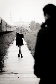 woman walking away