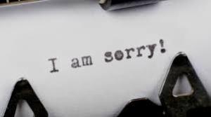 Sorry - typewritten