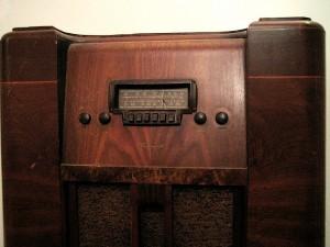1940s console radio