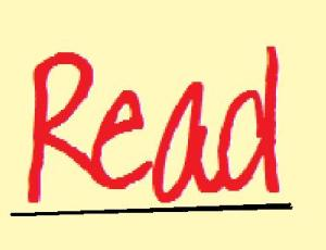the word read in red