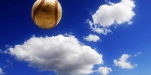 baseball coming down